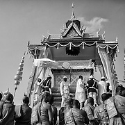Cambodians gather to offer prayers for former Cambodia King Norodom Sihanouk.<br />