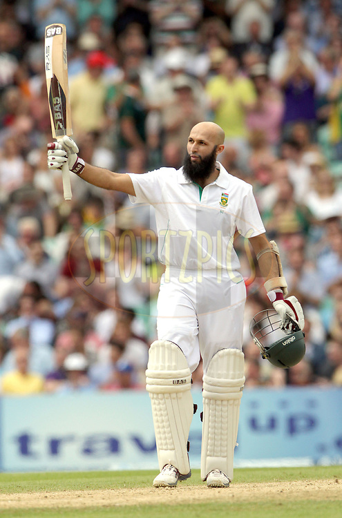 © Andrew Fosker / Seconds Left Images 2012 - South Africa's Hashim Amla celebrates his  hundred , 100, century - England v South Africa - 1st Investec Test Match -  Day 3 - The Oval  - London - 21/07/2012