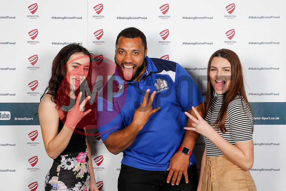 Jamal Ford-Robinson of Bristol Rugby poses during the Player Sponsors' Dinner in the Heineken Lounge at Ashton Gate - Mandatory byline: Rogan Thomson/JMP - 08/02/2016 - RUGBY UNION - Ashton Gate Stadium - Bristol, England - Bristol Rugby Player Sponsors' Dinner.