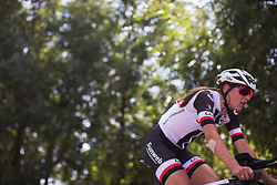 Lucinda Brand (NED) of Team Sunweb warms up for Stage 1 of the Madrid Challenge - a 12.6 km team time trial, starting and finishing in Boadille del Monte on September 15, 2018, in Madrid, Spain. (Photo by Balint Hamvas/Velofocus.com)