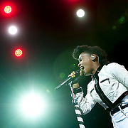 June 4, 2014 - New York, NY : <br /> Janelle Monáe performs during the season's innaugural Celebrate Brooklyn! concert in Prospect Park on Wednesday night.<br /> CREDIT: Karsten Moran for The New York Times