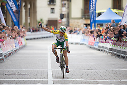 Katrin Garfoot (AUS) of Orica Scott Cycling Team wins Stage 3 of the Emakumeen Bira - a 77.6 km road race, starting and finishing in Antzuola on May 19, 2017, in Basque Country, Spain. (Photo by Balint Hamvas/Velofocus)