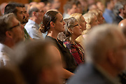 The audience listens to President Nellis' State of the Union address. Photo by Ben Siegel