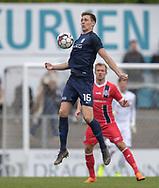FODBOLD: Mathias Kristensen (Nykøbing FC) tæmmer bolden under kampen i NordicBet Ligaen mellem Nykøbing FC og FC Helsingør den 19. maj 2019 på CM Arena i Nykøbing Falster. Foto: Claus Birch
