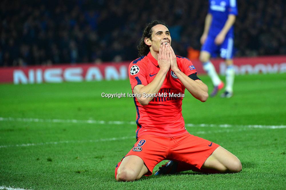 Deception Edinson CAVANI - 11.03.2015 - Chelsea / Paris Saint Germain - 1/8Finale retour Champions League<br /> Photo : Dave Winter / Icon Sport