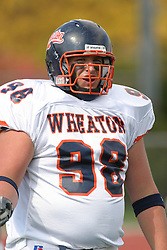 22 October 2005: Thunder DT Dan Studebaker. The Illinois Wesleyan Titans posted a 23 - 14 home win by squeeking past the Thunder of Wheaton College at Wilder Field (the 5th oldest collegiate field in the US) on the campus of Illinois Wesleyan University in Bloomington IL
