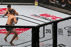 October 28, 2017 - Sao Paulo, Sao Paulo, Brazil - Oct, 2017 - Sao Paulo, Sao Paulo, Brazil - Fight between VICENTE LUQUE (The Silent Assassin) and NIKO PRICE (The Hybrid) during UFC Fight Night, at the Ibirapuera Gymnasium in Sao Paulo, this Saturday (28) (Credit Image: © Marcelo Chello via ZUMA Wire)