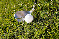 Golf Club and Golf Ball on Grass