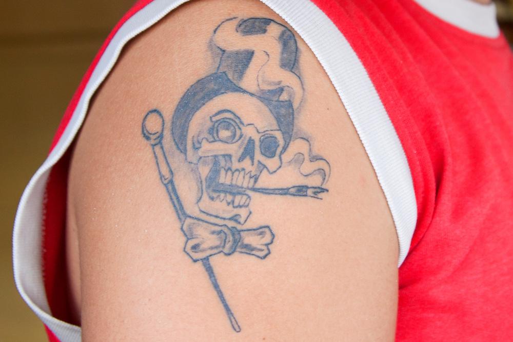 Tattoo in Playa Blanca, Holguin, Cuba.