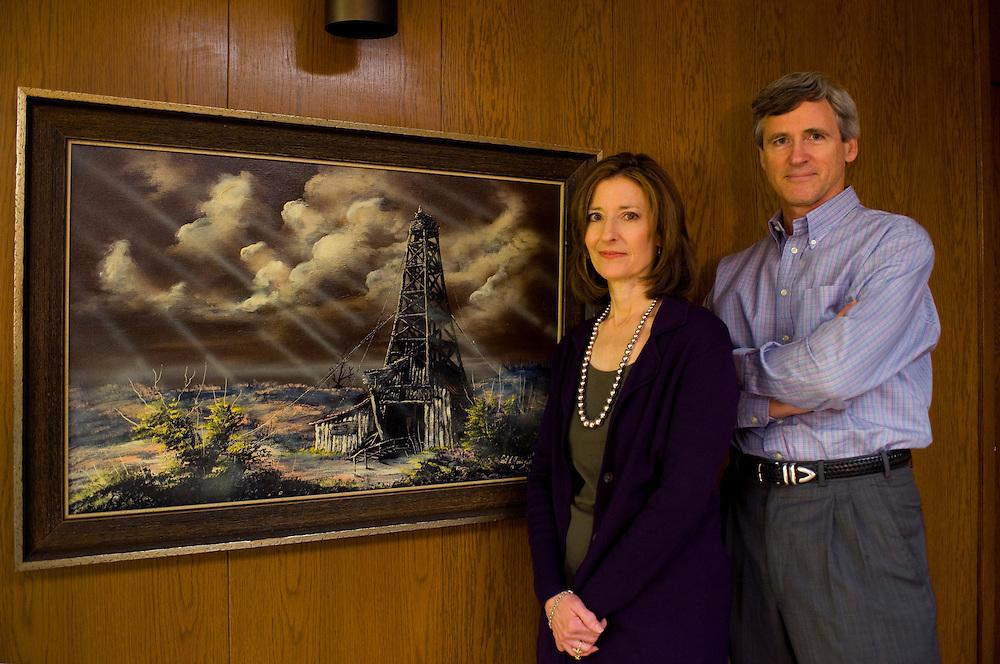 Oelproduzent und Republikaner Barry Willis mit seiner Frau Susan im Haus seiner Firma Alpar Energy..Republikaner-Hochburg Perryton, Texas. ..© Stefan Falke