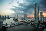 Chao Phraya river, Bangkok, Thailand, looking south from the Shangri-La hotel. November 2015. Photogrpah ©2015 Darren Carroll