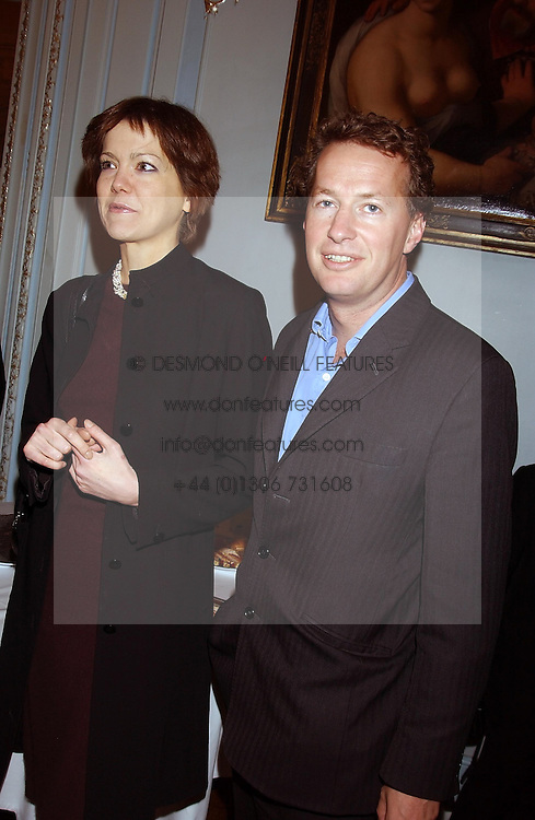 ELIZABETH CECIL and ORLANDO FRASER at a party to celebrate the publication of 'Princesses' the six daughters of George 111 by Flora Fraser held at the Saville Club, Brook Street, London W1 on 14th September 2004.<br /><br />NON EXCLUSIVE - WORLD RIGHTS