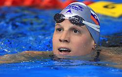 Anja Carman of Slovenia placed 4th in the women's 200m backstroke final race at day 4 of LEN European Short Course Swimming Championships Rijeka 2008, on December 14, 2008,  in Kantrida pool, Rijeka, Croatia. (Photo by Vid Ponikvar / Sportida)