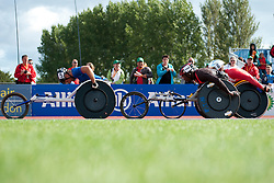 CASOLI Julien, BALDE Alhassane, HUG Marcel, 2014 IPC European Athletics Championships, Swansea, Wales, United Kingdom