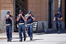 Policemen at prologue (17,8km) of Tour de Slovenie 2012, on June 17 2012, in Ljubljana, Slovenia. (Photo by Matic Klansek Velej / Sportida.com)