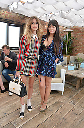 Left to right, WHINNIE WILLIAMS and ZARA MARTIN at the Warner Music Group Summer Party in association with British GQ held at Shoreditch House, Ebor Street, London E2 on 8th July 2015.