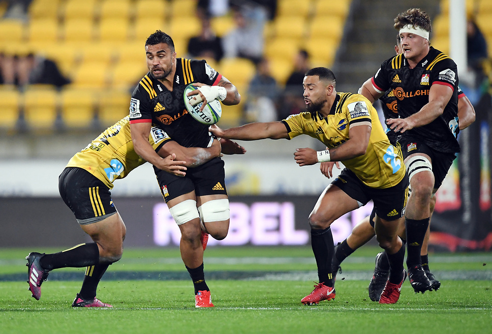 Chiefs Liam Messam against the Hurricanes in the Super Rugby match at Westpac Stadium, Napier, New Zealand, Friday, April 13, 2018. Credit:SNPA / Ross Setford