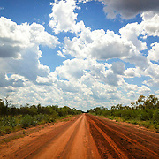 All roads lead to Jarlmadangah.  The Jarlmadangah/Looma road end of the wet season. Australia, 2012