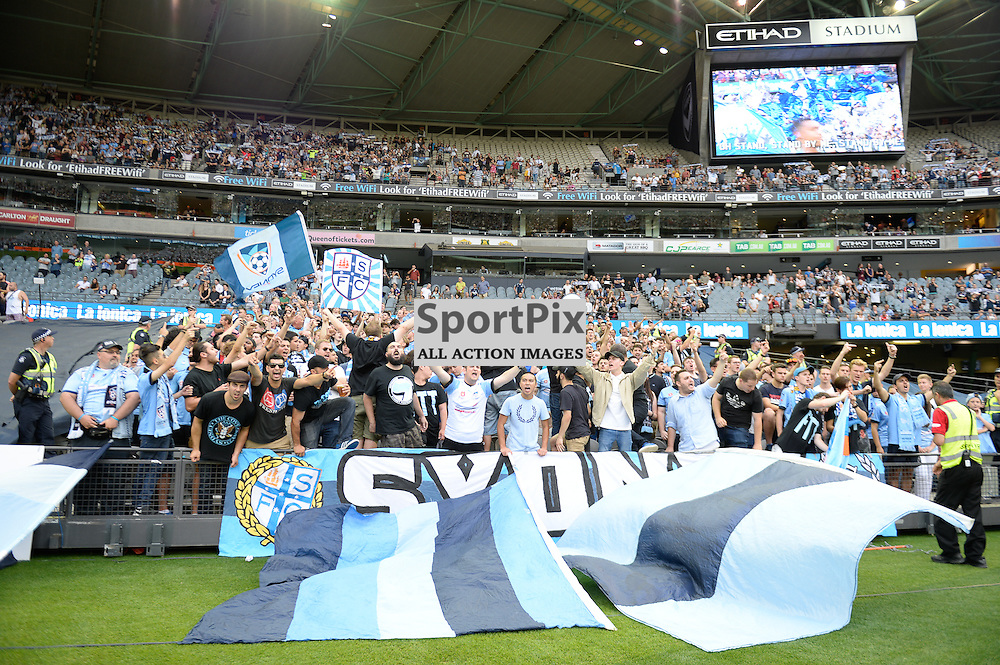 Sydney  fans - Hyundai A-League (Australia Day) - January 26th 2016 - RD16 - Melbourne Victory FC v Sydney FC at Etihad Stadium, Docklands, Melbourne, Australia in a 1:0 win to Victory - © Mark Avellino | SportPix.org.uk