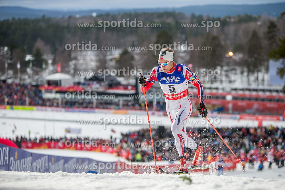 19.02.2015, Lugnet Ski Stadium, Falun, SWE, FIS Weltmeisterschaften Ski Nordisch, Langlauf, Damen, Sprint, im Bild Eirik Brandsdal (NOR) // during the Cross Country Ladies Sprint of the FIS Nordic Ski World Championships 2015 at the Lugnet Ski Stadium, Falun, Sweden on 2015/02/19. EXPA Pictures © 2015, PhotoCredit: EXPA/ JFK
