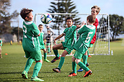 Junior Football at Hibiscus Coast AFC, Stanmore Bay Auckland, Saturday 28th July 2018. Copyright Photo: Shane Wenzlick