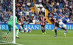 Gary Hooper of Sheffield Wednesday scores his sides first goal  - Mandatory by-line:  Matt McNulty/JMP - 24/09/2017 - FOOTBALL - Hillsborough - Sheffield, England - Sheffield Wednesday v Sheffield United - Sky Bet Championship