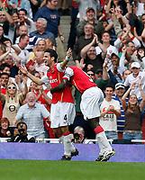 Photo: Steve Bond.<br />Arsenal v Derby County. The FA Barclays Premiership. 22/09/2007. Cesc Fabrigas celebrates scoring