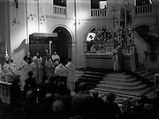 05/10/1952<br /> 10/05/1952<br /> 05 October 1952<br /> Franciscan Church, Merchant's Quay, Novena Mass.<br /> His Excellency Gerald O'Hara, Papal Nuncio, presiding over one of the Novena Masses.