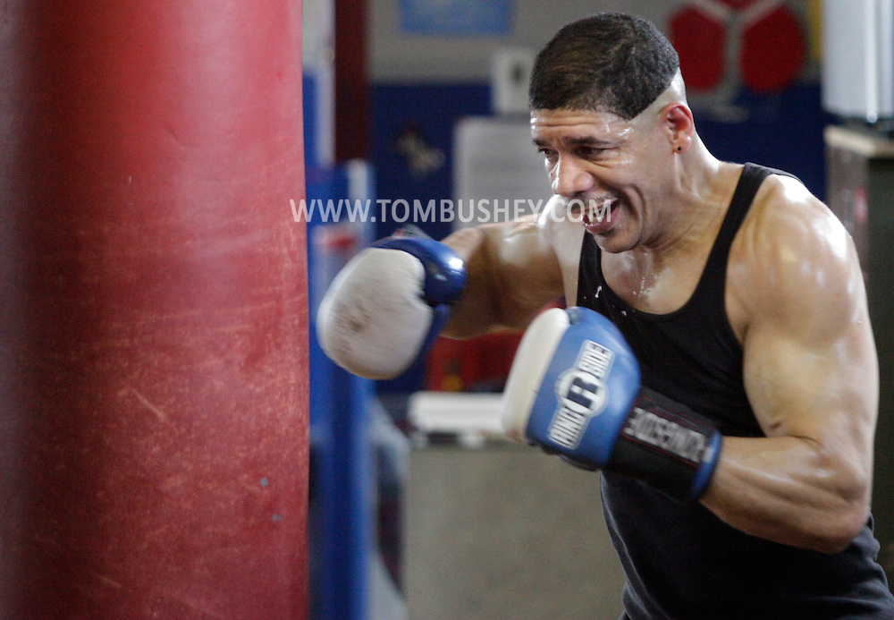 Dewey Bozella of Newburgh trains at the Newburgh Boxing Club on Tuesday, April 5, 2011.