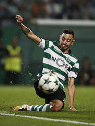October 31, 2017 - Lisbon, Portugal - Sporting's midfielder Bruno Fernandes in action  during Champions League 2017/18 match between Sporting CP vs Juventus FC, in Lisbon, on October 31, 2017. (Credit Image: © Carlos Palma/NurPhoto via ZUMA Press)