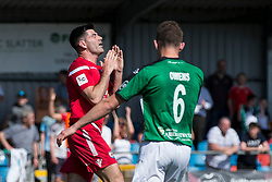 NEWTOWN, WALES - Sunday, May 6, 2018: Michael Wilde of Conahs Quay Nomads reacts after his goal is ruled out by the assistant referee during the FAW Welsh Cup Final between Aberystwyth Town and Connahs Quay Nomads at Latham Park. (Pic by Paul Greenwood/Propaganda) Rob Hughes Jonny Spittle