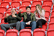 Rotherham fans before the EFL Sky Bet League 1 play off second leg match between Rotherham United and Scunthorpe United at the AESSEAL New York Stadium, Rotherham, England on 16 May 2018. Picture by Nigel Cole.