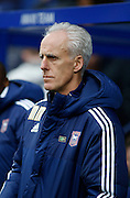 Ipswich Town manager Mick McCarthy before the Sky Bet Championship match between Queens Park Rangers and Ipswich Town at the Loftus Road Stadium, London, England on 6 February 2016. Photo by Andy Walter.