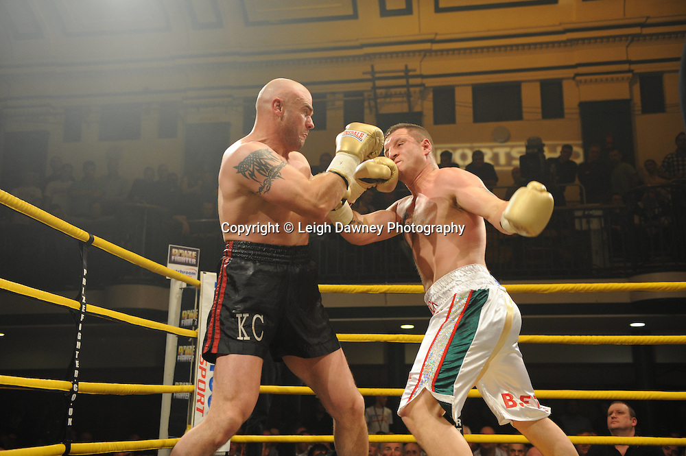 Shane McPhilbin defeats Declan Timlin at Prizefighter The Heavyweights 9th Ocrtober 2010 at York Hall, Bethnal Green, London. Prizefighter/Matchroom Sport. Barry & Eddie Hearn © Photo credit: Leigh Dawney