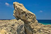 Limestone rock on shore of Georgian Bay<br />Tobermory<br />Ontario<br />Canada