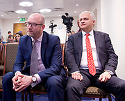 Paul Nuttall and Mike Hookem MEP launch UKIP's Fisheries policies<br /> 11th May 2017  Westminster, London, Great Britain <br /> <br /> Paul Nuttall &amp; Patrick O' Flynn <br /> <br /> <br /> Photograph by Elliott Franks <br /> Image licensed to Elliott Franks Photography Services