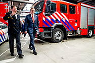 King Willem-Alexander visit the safety region Midden-West Brabant with Justice minister Ferdinand Grapperhaus in Tilburg, The Netherlands, 26 March 2019. The King and Minister get an tour through a forestation. The visit is part of a series of visits with ministers. copyrught robin utrecht