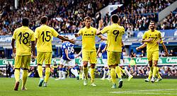 Villareal's Gerard Moreno celebrates after scoring the opening goal  - Mandatory by-line: Matt McNulty/JMP - 02/08/2015 - SPORT - FOOTBALL - Liverpool,England - Goodison Park - Everton v Villareal - Pre-Season Friendly