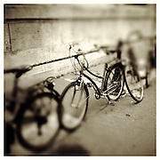 10-5-11 --- Bicycles outside the entrance to L' Ecole Nationale Superieure Beaux-Arts on the left bank in Paris.
