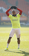 Charlton Athletic Callum Harriott (11) during the warm up before the Sky Bet Championship match between Charlton Athletic and Middlesbrough at The Valley, London, England on 13 March 2016. Photo by Andy Walter.