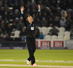 Sussex's  Danny Briggs appeals - Mandatory by-line: Alex Davidson/JMP - 01/06/2016 - CRICKET - The 1st Central County Ground - Hove, United Kingdom - Sussex v Somerset - NatWest T20 Blast