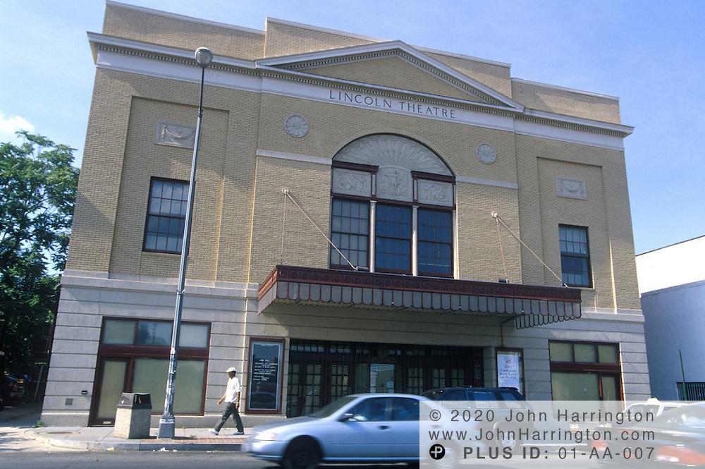 Historic Landmark The Lincoln Theater, along the U Street corridor.