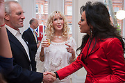 MARK SHAND; BASIA BRIGGS; NANCY DELL D'OLIO, Party given by Basia Briggs and Richard Briggs at their home in Chelsea. London. 14 May 2012