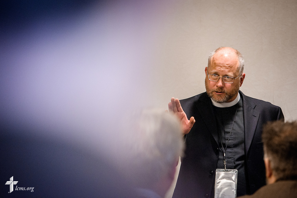 The Rev. Jonathan Lange, district life coordinator of the LCMS Wyoming District, leads a breakout sectional during the 2017 LCMS Life Conference on Saturday, Jan. 28, 2017, in Arlington, Va. LCMS Communications/Erik M. Lunsford