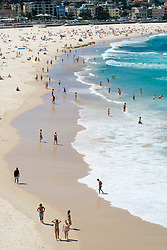 Summer view of Bondi Beach in Sydney New South Wales in Australia