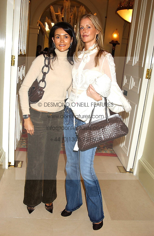 Left to right, JANAKI PROSDOCIMI and LIBBY MAROLDA at the CLIC Sargent's Yumy Mummy lunch held at The Lanesborough Hotel, Hyde Park Corner, London on 20th September 2005.<br />