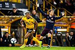 Adama Traore of Wolverhampton Wanderers takes on Nacho Monreal of Arsenal - Mandatory by-line: Robbie Stephenson/JMP - 24/04/2019 - FOOTBALL - Molineux - Wolverhampton, England - Wolverhampton Wanderers v Arsenal - Premier League