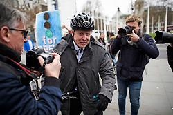 © Licensed to London News Pictures. 27/03/2019. London, UK.  BORIS JOHNSON MP is seen arriving at the Houses of Parliament in London. MPs will hold a series of indicative votes on different Brexit options this evening. Photo credit: Ben Cawthra/LNP