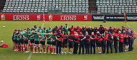 Rugby Union - 2017 British & Irish Lions Tour of New Zealand - Captains Run <br /> <br /> The Lions team take part in a minutes silence for the victims of the London attack during the Captains Run at The QBE Stadium, Auckland. <br /> <br /> COLORSPORT/LYNNE CAMERON