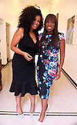 New York, NY-July 30: (L-R) Beverly Bond, Founder, Black Girls Rock! and Author/Beauty Guru Mikki Taylor attend the Inaugural Black Girls LEAD Conference held at Barnard College at Columbia University on July 30, 2015 in New York City.  (Photo by Terrence Jennings/terrencejennings.com)